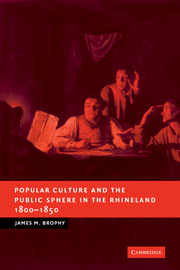 Popular Culture and the Public Sphere in the Rhineland, 1800–1850
