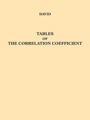 Tables of the Ordinates and Probability Integral of the Distribution of the Correlation Coefficient in Small Samples