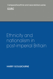 Ethnicity and Nationalism in Post-Imperial Britain