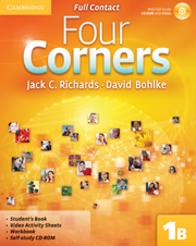 Four Corners Level 1 Full Contact B with Self-study CD-ROM