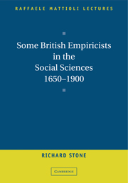 Some British Empiricists in the Social Sciences, 1650–1900