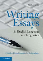writing essays in english language and linguistics by neil murray writing essays in english language and linguistics
