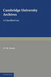 Cambridge University Archives
