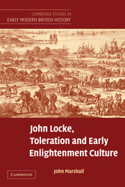 John Locke, Toleration and Early Enlightenment Culture