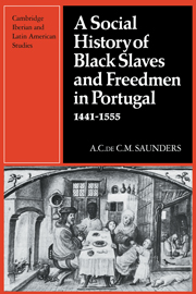 A Social History of Black Slaves and Freedmen in Portugal, 1441–1555