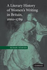 A Literary History of Women's Writing in Britain, 1660–1789