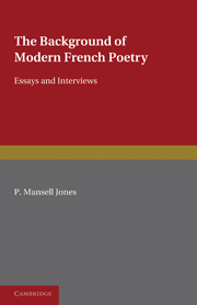 The Background of Modern French Poetry