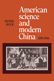 American Science and Modern China, 1876–1936