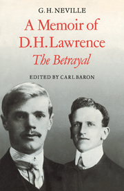 A Memoir of D. H. Lawrence