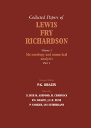 The Collected Papers of Lewis Fry Richardson