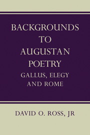 Backgrounds to Augustan Poetry