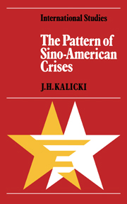 The Pattern of Sino-American Crises
