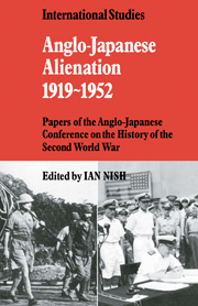 Anglo-Japanese Alienation 1919–1952