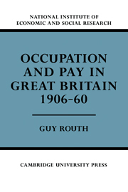 Occupation and Pay in Great Britain 1906–60