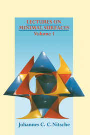 Lectures on Minimal Surfaces