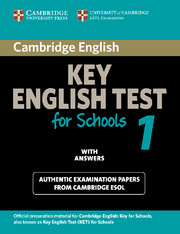 Cambridge Key English Test for Schools 1