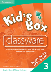 Kid's Box 3 Classware CD-ROM