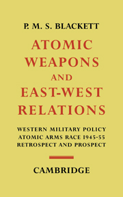 Atomic Weapons and East–West Relations