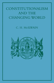 Constitutionalism and the Changing World