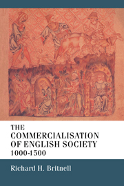 The Commercialisation of English Society 1000-1500
