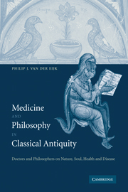 Medicine and Philosophy in Classical Antiquity