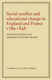 Social Conflict and Educational Change in England and France 1789–1848