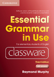 Essential Grammar in Use Elementary Level