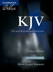 KJV Pocket Reference Bible, Grey Imitation Leather, Red-letter Text, KJ242:XR