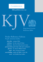 KJV Pocket Reference Bible, Purple Imitation Leather, Red-letter Text, KJ242:XR