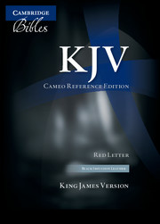 KJV Cameo Reference Bible, Black Imitation Leather, Red-letter Text, KJ452:XR