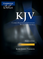 KJV Cameo Reference Bible with Apocrypha, Black Calf Split Leather, Red-letter Text, KJ453:XRA