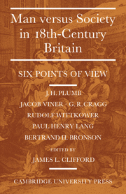 Man Versus Society in Eighteenth-Century Britain