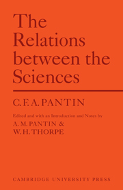 Relations Between Sciences