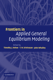 Frontiers in Applied General Equilibrium Modeling