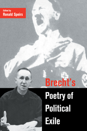 Brecht's Poetry of Political Exile