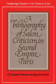 A Bibliography of Salon Criticism in Second Empire Paris