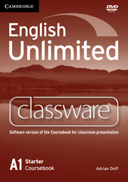 English Unlimited  Starter Classware DVD-ROM