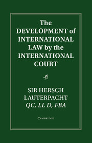 The Development of International Law by the International Court
