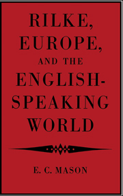 Rilke, Europe, and the English-Speaking World