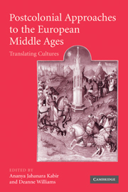 Postcolonial Approaches to the European Middle Ages