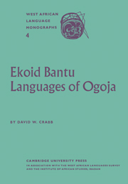 Ekoid Bantu Languages of Ogoja, Eastern Nigeria