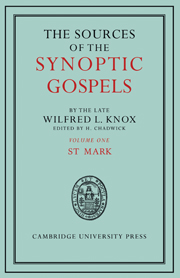 The Sources of the Synoptic Gospels