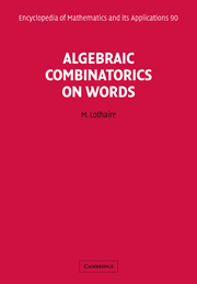 Algebraic Combinatorics on Words