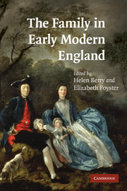 The Family in Early Modern England