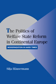 The Politics of Welfare State Reform in Continental Europe