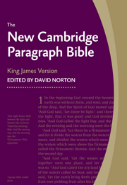 New Cambridge Paragraph Bible, Black Calfskin Leather, KJ595:T