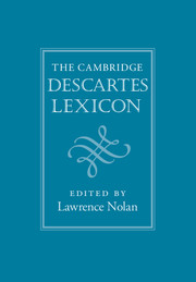 The Cambridge Descartes Lexicon