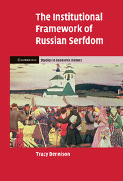 The Institutional Framework of Russian Serfdom