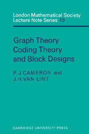 Graph Theory, Coding Theory and Block Designs