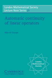 Automatic Continuity of Linear Operators